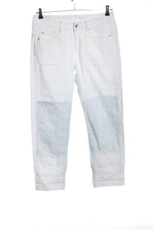 midge Boyfriend jeans wit-blauw casual uitstraling