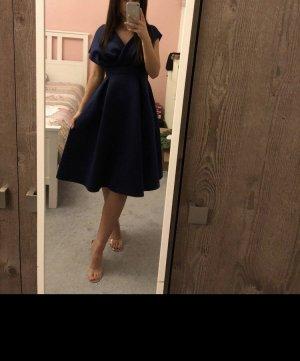 Asos Vestido de baile azul oscuro-azul