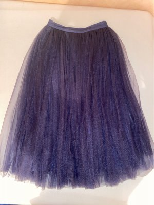 Asos Tiulowa spódnica szaro-fioletowy Nylon