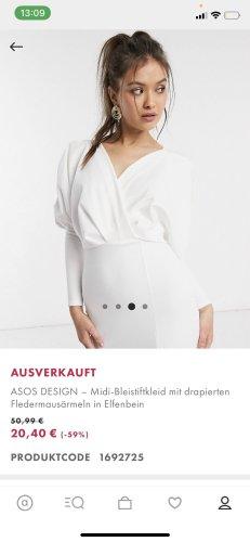 ASOS DESIGN Midi-jurk wit-wolwit