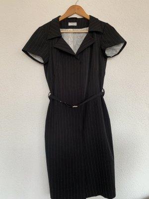 Midi Business kleid Nadelstreifen elegant mit Gürtel