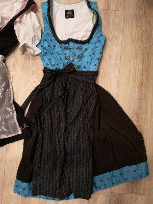 Almenrausch Midi Dress brown-turquoise