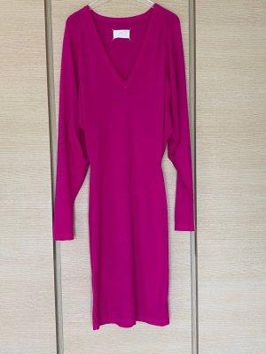 Maison Martin Margiela Vestido de lana rojo frambuesa-violeta