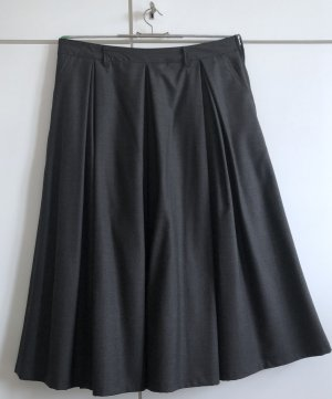 Plaid Skirt anthracite-silver-colored new wool