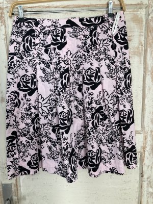 Laura Scott Plisowana spódnica jasny różowy-czarny
