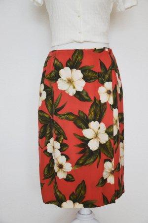 Dana Buchman High Waist Skirt multicolored silk
