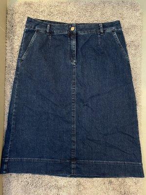 Peter Hahn Gonna di jeans blu scuro-blu
