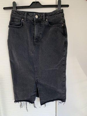 Midi jeans rock dunkel grau