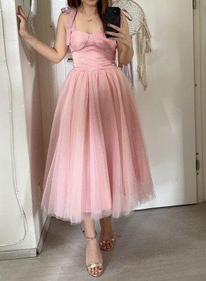 Robe de bal rose-rose clair