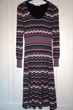 Rodier Vestido tejido multicolor lana merina