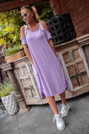 Bastet Midi Dress purple