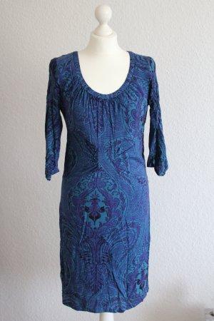 Midi Kleid Boho Kleidchen St-Martins Ethno-Muster Vintage M/38