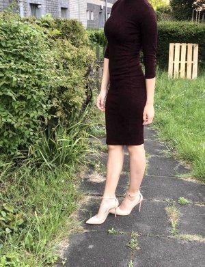 Amisu Vestido a media pierna burdeos-rojo zarzamora