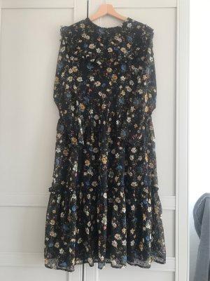 MIDI Kleid mit Blumen Muster
