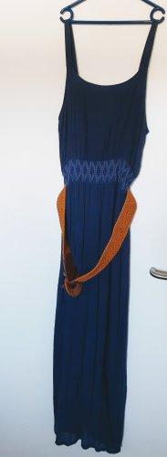 Apricot Midi Dress cornflower blue
