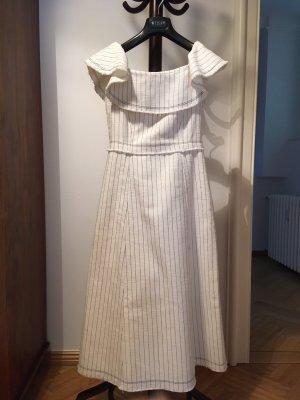 Alexander Wang Midi-jurk wit-zwart Katoen