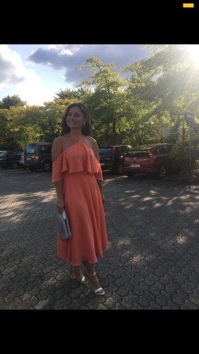 Midi Kleid mit Rüschen