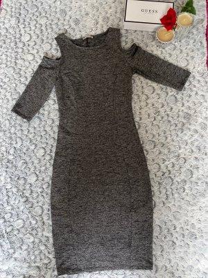 Midi-Kleid mit Schultercutouts