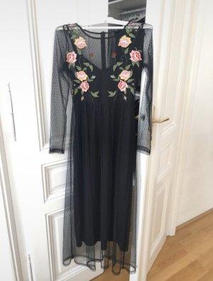 Midi Kleid mit Stickerei