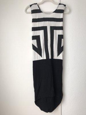 Vero Moda Sukienka z dżerseju czarny-biały