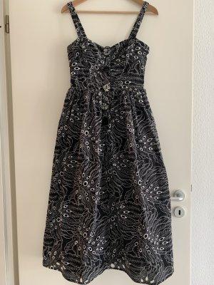 Asos Cut out jurk wit-zwart Katoen