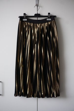 Pleated Skirt gold-colored-black synthetic fibre
