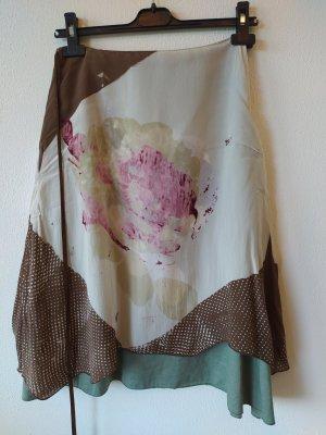 H&M Asymetryczna spódniczka jasnozielony-różowy