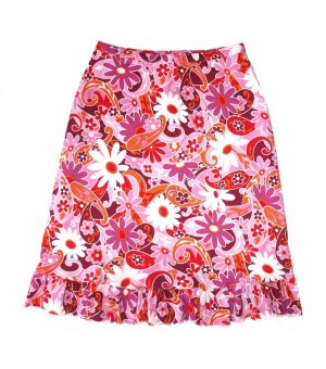 Volanten rok lichtrood-roze Polyester