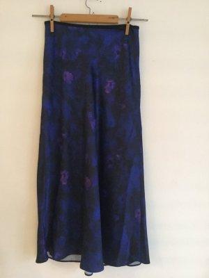 ARKET Midi Skirt blue-dark violet polyester