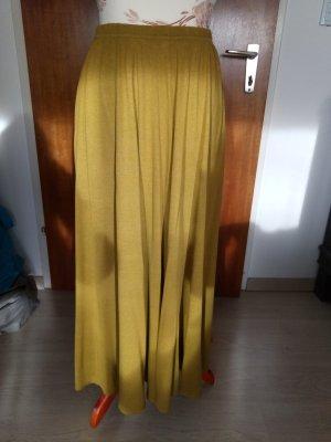 Falda larga ocre Viscosa