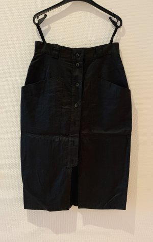 Bernd Berger Midi Skirt black cotton