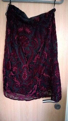 Brian Rennie Lace Skirt bordeaux-black polyester