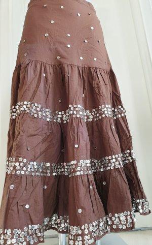 Warstwowa spódnica brązowy