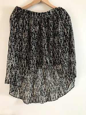 Mango collection Asymmetrische rok zwart-grijs