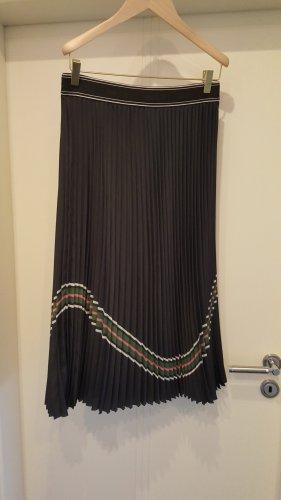 Marc Cain Pleated Skirt black-petrol