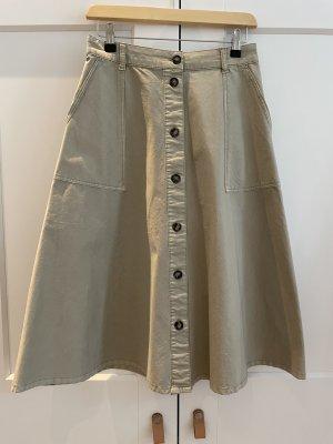 Set Fashion Midi-rok licht beige Katoen