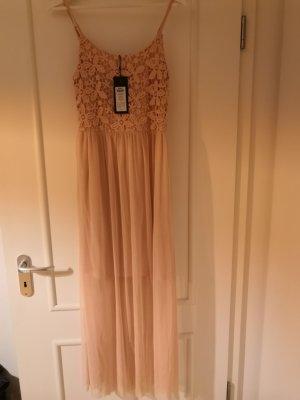 Midi Sommerkleid mit Tüll und Spitze