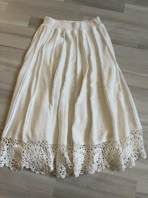 Asos Spódnica z dzianiny biały