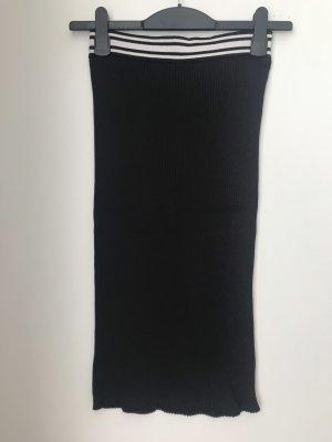 Pull & Bear Spódnica z dzianiny czarny