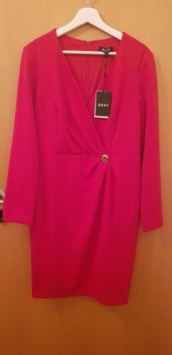 DKNY Midi Dress red-dark red