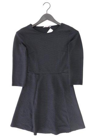 Midikleid Größe 34 3/4 Ärmel schwarz aus Polyester