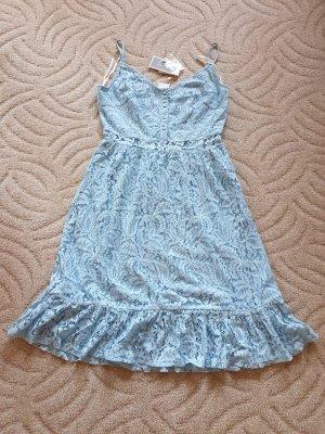 Midikleid Hellblau Vila Gr. 42 (L/XL) Kleid Spitze