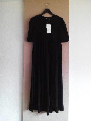 Midikleid in schwarz aus 100% Baumwolle, Grösse M, neu