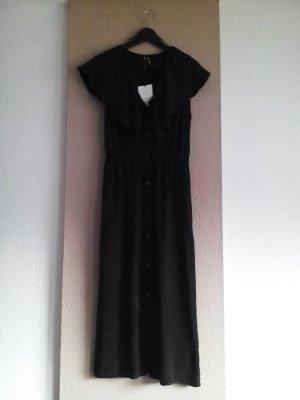 Midikleid in schwarz aus Lyocell, Grösse M, neu