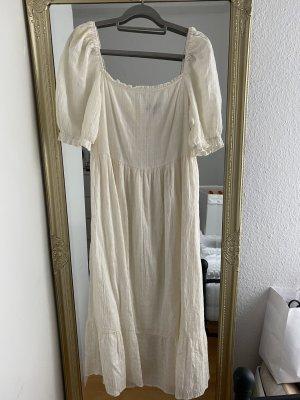 Primark Vestido a media pierna blanco puro