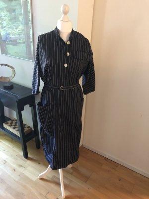 ARKET Shirtwaist dress black-white cotton