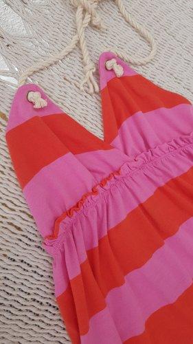 H&M Sukienka z dekoltem typu halter jasny pomarańczowy-różowy