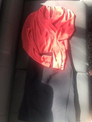 Midikleid rot & schwarz