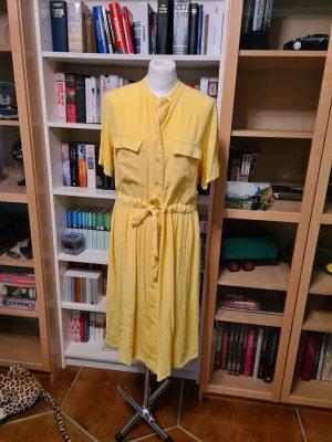 Midikleid Sommerkleid Gr. L (40-42)  gelb YAS Blusenkleid Kleid