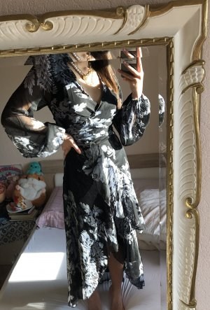 ASOS DESIGN Robe mi-longue bleu foncé-gris clair